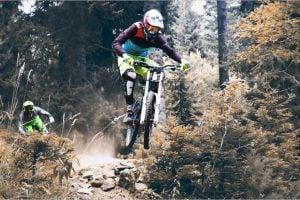 mountain biking with gear